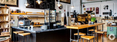 Verkaufsraum Rößlers Kaffeerösterei in Höhenkirchen
