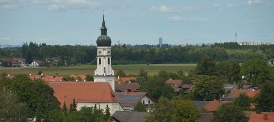Blick über Höhenkirchen-Siegertsbrunn