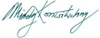 Unterschrift Mindy Konwitschny