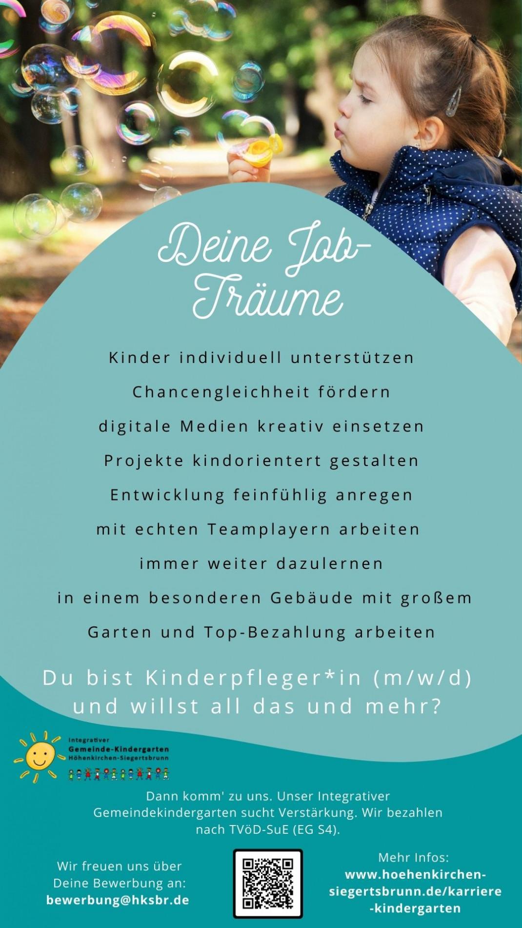 Stellenanzeige Kinderpfleger*in