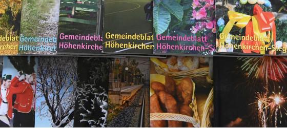 Gemeindeblatt Titelseiten